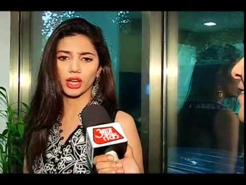 Interview of Pakistani actress Mahira Khan by Amit Tyagi of Aajtak