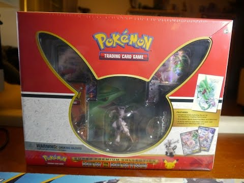 Pokemon TCG Super Premium Collection Mewtwo & Mew Opening! Figure, Artbook, Boxes, and More!