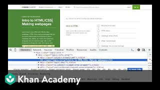 Using inspect element for HTML