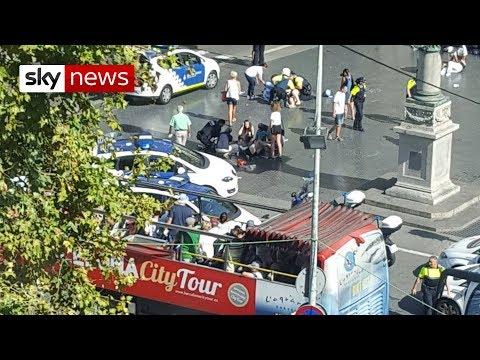 Terror attack in Barcelona tourist spot