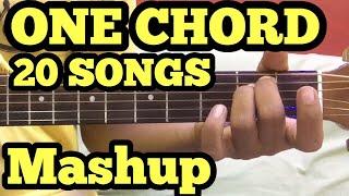 1 Chord 20 Guitar songs MASHUP Lesson | Bollywood/Hindi Songs Mashup | One chord | Sidharth Salathia