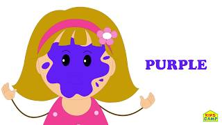 Wrong Face Silly Funny Face Painting With Elly Learn Colors Paintball Finger Family Song by KidsCamp
