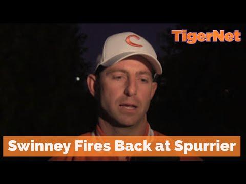 Dabo Rant Dabo fires back at Spurrier