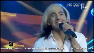Imitador de Cristian Castro 'destrozó' el escenario con