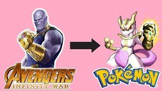 Pokemon - Infinity War: Mewtwo as Thanos 2018.