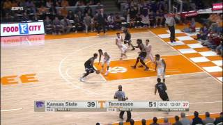 Tennessee vs Kansas State Basketball Highlights 1-28-17