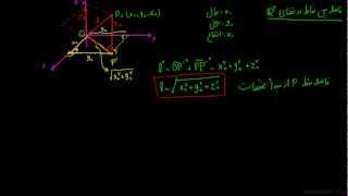 بردارها ۰۲ - فواصل در فضای سه بعدی ۱