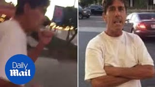 Cowardly man punches autistic man and calls him RETARDED!