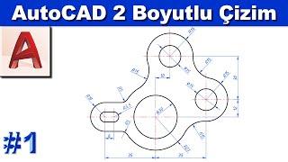 AutoCAD 2 boyutlu çizim örnekleri #1 (Sesli, Altyazılı)