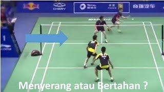 Posisi benar bermain Ganda Badminton | Badminton Tips