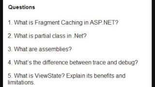 asp net interview questions and answers