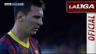 Gol de Lionel Messi de penalti (5-0) en el FC Barcelona - Levante UD - HD