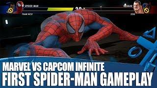 Marvel vs. Capcom: Infinite - First Spider-Man Gameplay!