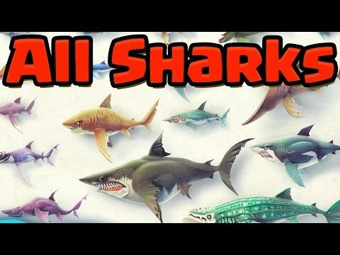ALL BIG SHARKS UNLOCKED PART 2 Hungry Shark World HSW GAMEPLAY OF EVERY SHARK