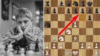 Bobby Fischer beats a Grandmaster in 10 moves! (But Reshevsky plays on)