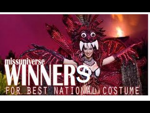 Best National Costume Winners Miss Universe 1962 2014