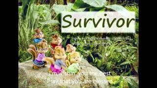 """Alvin and the Chipmunks Chipwrecked: """"Survivor"""" (With Lyrics on screen)"""