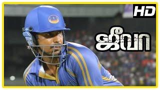 Jeeva Tamil movie   Climax scene   Vishnu becomes Indian team cricketer   End Credits