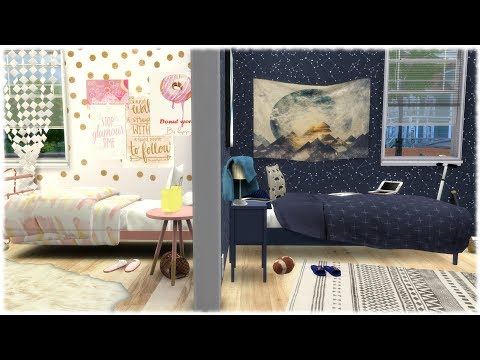 Xxx Mp4 The Sims 4 Speed Build OPPOSITES TWIN ROOMS GIRLY VS SPORTY CC Links 3gp Sex