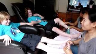 Even children need a good foot massage