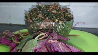 Thandu keerai poriyal recipe in tamil|red amarnathus fry recipe|sivappu thandu keerai recipe tamil