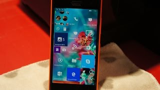 Lumia 730/735 Windows 10 Mobile Insider Preview look at new features and feel