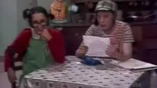 Chaves lendo a carta da Dona Neves - Trecho Episódio: