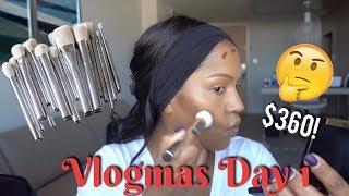 Vlogmas 2017 Day 1: Kylie Cosmetics Brush Set & Concealer Review | MakeupShayla