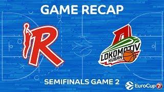 Highlights: Grissin Bon Reggio Emilia - Lokomotiv Kuban Krasnodar