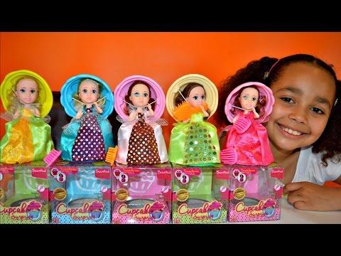 Princess Cupcake Surprise Transform Dolls With Scents - Lemon,Vanilla,Grape,Chocolate