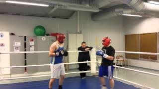 Lapinlukko Boxing Club  Jani & Tommy Sparring  Today 4.12.2013.