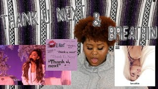 Thank U Next, Breathin (Live & Official Music Video) REACTION