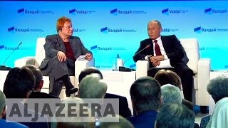 Russian military threat 'exaggerated', says Putin