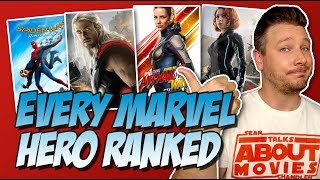 Every MCU Hero Ranked!