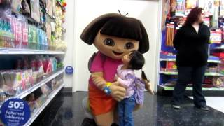 Meeting Dora the Explorer at Party City