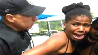 Cops Slam 12 Year Old Black Girl Onto Squad Car (VIDEO)