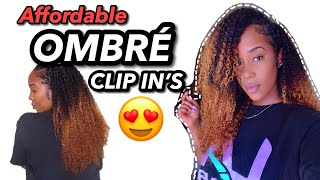 AFFORDABLE OMBRÉ CURLY CLIP INS!!!! | CURL CURLS