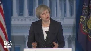 Watch British Prime Minister Theresa May address GOP retreat
