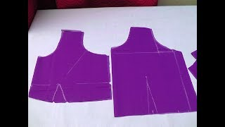 SIMPLE  BLOUSE CUTTING AND STITCHING IN TAMIL PART-1
