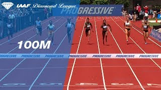 Marie-Josee Ta Lou Wins Women's 100m - IAAF Diamond League Eugene 2018