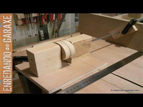 Probando tornillo de ajuste para la guía lateral. Incra style fence adjustment