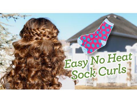 Sock Curls Easy No Heat Curls Cute Girls Hairstyles