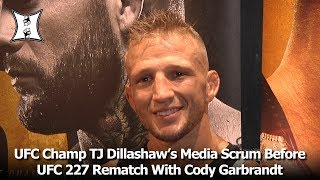 UFC Champ TJ Dillashaw's Media Scrum Before UFC 227 Rematch With Cody Garbrandt