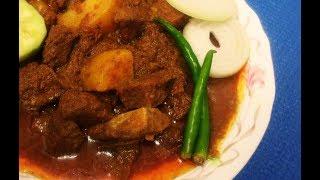 বাংলাদেশী গরুর মাংস আলু দেয়া ঝাল রেসিপি | how to cook beef & potato tasty curry