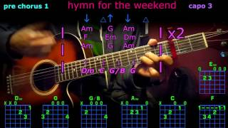 hymn for the weekend coldplay guitar chords