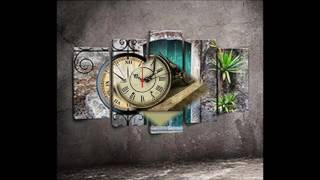 Ev Dekorasyonunda Saat Modası: Kanvas Saatler