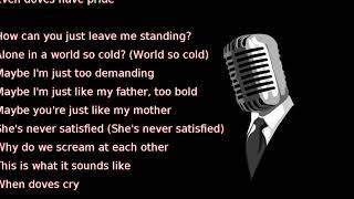 Prince - When Doves Cry (lyrics)