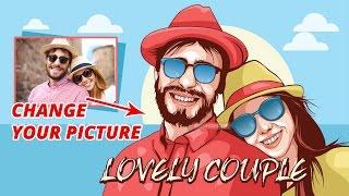 Vector Portraits Tutorials - Lovely Couple - Illustrator Tutorials