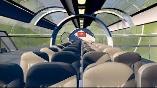 Hyperloop Transport Concept - 3D Animation