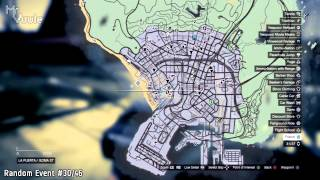 GTA V - 100% Checklist: All Random Event Locations / Guide